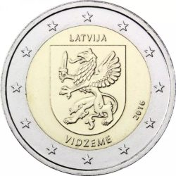 2 евро, Латвия (Историческая область Видземе)