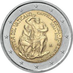 2 евро, Ватикан (25-летие завершения реставрации Сикстинской капеллы)