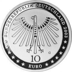 10 евро, Германия (200 лет со дня рождения Готфрида Земпера)