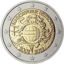 2 евро, Германия (10 лет наличному обращению евро)