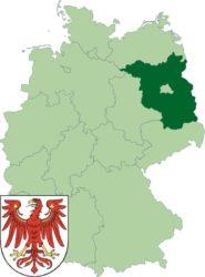 Федеральная земля Бранденбург на карте Германии