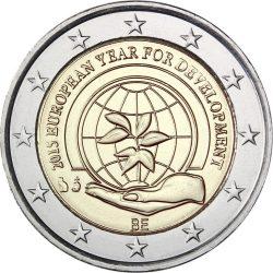 2 евро, Бельгия (Европейский год развития)