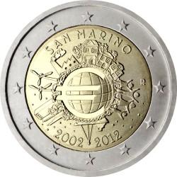 2 евро, Сан-Марино (10 лет наличному обращению евро)