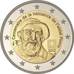 2 евро, Франция (100 лет со дня рождения аббата Пьера)