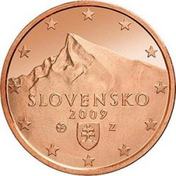 1 евроцент, Словакия