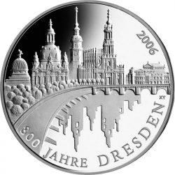 10 евро, Германия (800 лет Дрездену)