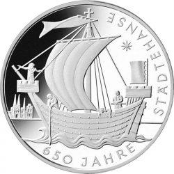 10 евро, Германия (650 лет Ганзе)