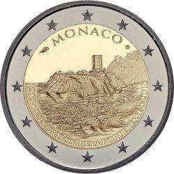 2 евро, Монако (800-летие строительства первого замка на скале)