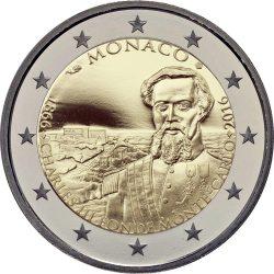 2 евро, Монако (150-летие со дня основания Монте-Карло Карлом III)
