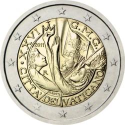 2 евро, Ватикан (XXVI Всемирный день молодёжи в Мадриде)
