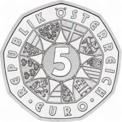 5 евро, Австрия (100 лет лыжному спорту)