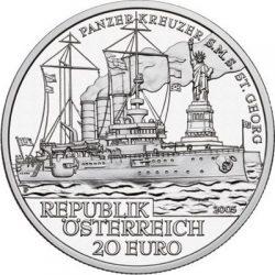 20 евро, Австрия (Броненосец SMS «Святой Георг»)