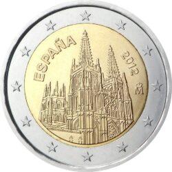 2 евро, Испания (Кафедральный собор в г.Бургос)