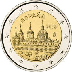 2 евро, Испания (Архитектурный ансамбль Эскориал)