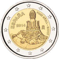 2 евро, Испания (Работы Антони Гауди в г.Барселоне)