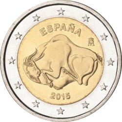 2 евро, Испания (Наскальные рисунки в пещере Альтамира)