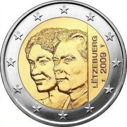 2 евро, Люксембург (90 лет вступления на престол Великой герцогини Шарлотты)