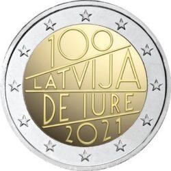 2 евро, Латвия (100-летие международного признания Латвии де-юре)