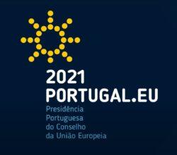 Логотип португальского председательства в Совете ЕС 2021 года