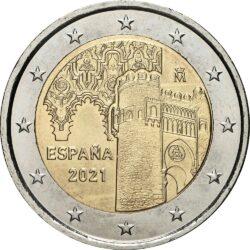 2 евро, Испания (Исторический центр города Толедо)