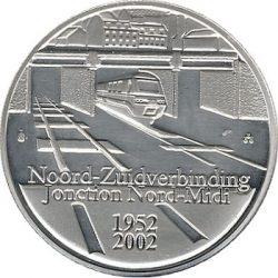 10 евро, Бельгия (50 лет открытия ж.д. ветки Норд-Миди)