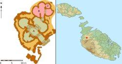 Схема Та' Хаджрат и его расположение на Мальте