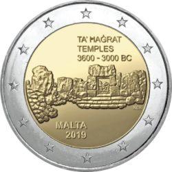 2 евро, Мальта (Храмы Та' Хаджрат)