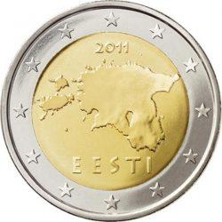 2 евро Эстонии, аверс