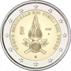 2 евро, Италия (Национальный корпус пожарных Италии)