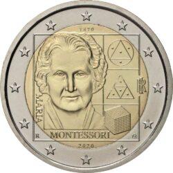 2 евро, Италия (150 лет со дня рождения Марии Монтессори)