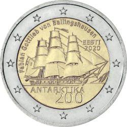 2 евро, Эстония (200 лет со дня открытия Антарктиды)