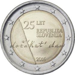 2 евро, Словения (25-летие независимости Словении)