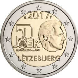 2 евро, Люксембург (50-летие добровольной военной службы в Люксембурге)