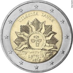 2 евро, Латвия (Восходящее солнце)