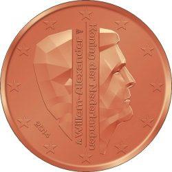 1 евроцент, Нидерланды (тип 2)