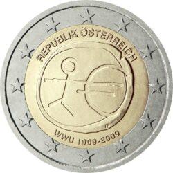 2 евро, Австрия (10 лет Экономическому и валютному союзу)