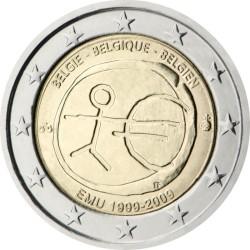 2 евро, Бельгия (10 лет Экономическому и валютному союзу)