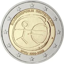 2 евро, Германия (10 лет Экономическому и валютному союзу)