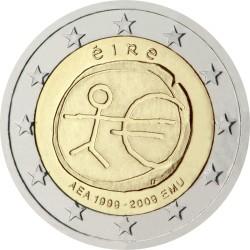 2 евро, Ирландия (10 лет Экономическому и валютному союзу)