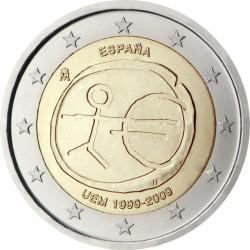 2 евро, Испания (10 лет Экономическому и валютному союзу)