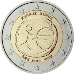 2 евро, Кипр (10 лет Экономическому и валютному союзу)