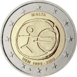 2 евро, Мальта (10 лет Экономическому и валютному союзу)