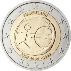 2 евро, Нидерланды (10 лет Экономическому и валютному союзу)