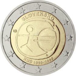 2 евро, Словакия (10 лет Экономическому и валютному союзу)