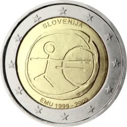 2 евро, Словения (10 лет Экономическому и валютному союзу)