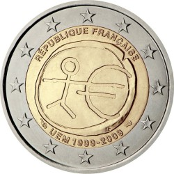 2 евро, Франция (10 лет Экономическому и валютному союзу)