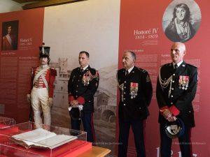 Музей княжеских карабинеров вместе с князем Альбером II посетил и высший командный состав
