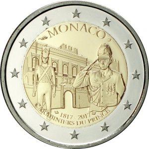 2 евро, Монако (200-летие Роты княжеских карабинеров)