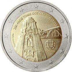 2 евро, Португалия (250-летие возведения колокольни церкви Клеригуш)