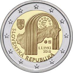 2 евро, Словакия (25 лет Словацкой Республике)